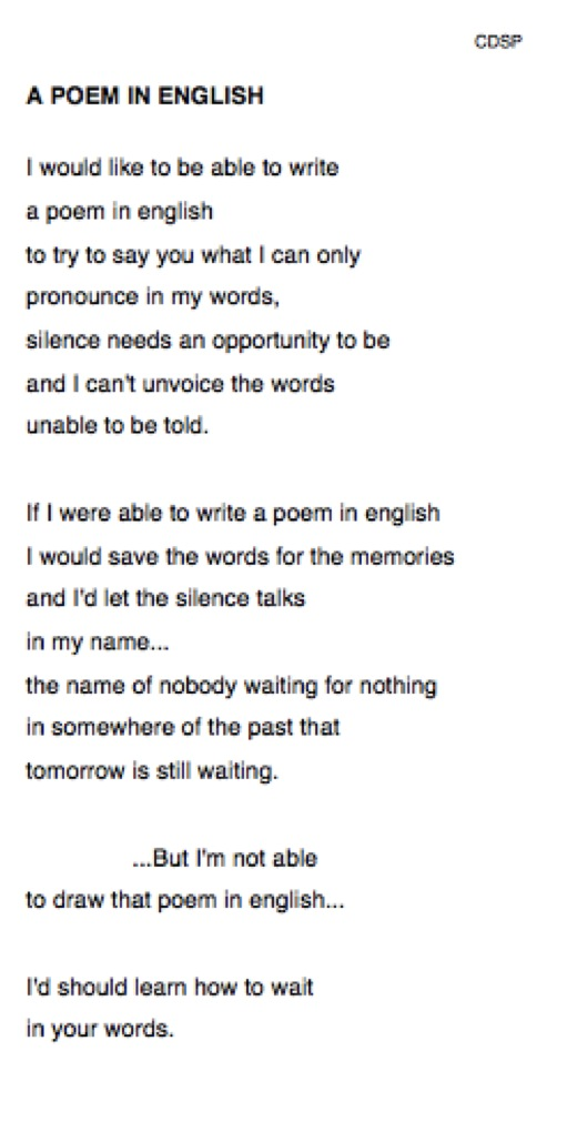 POEM IN ENGLISH