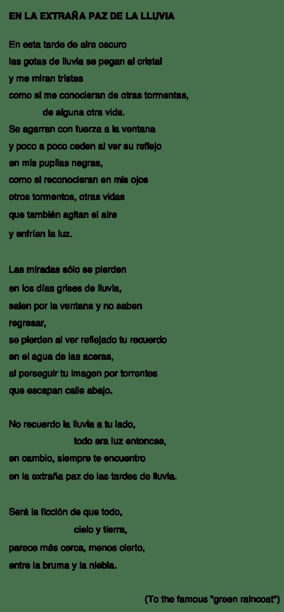 EXTRAÑA PAZ LLUVIA-P
