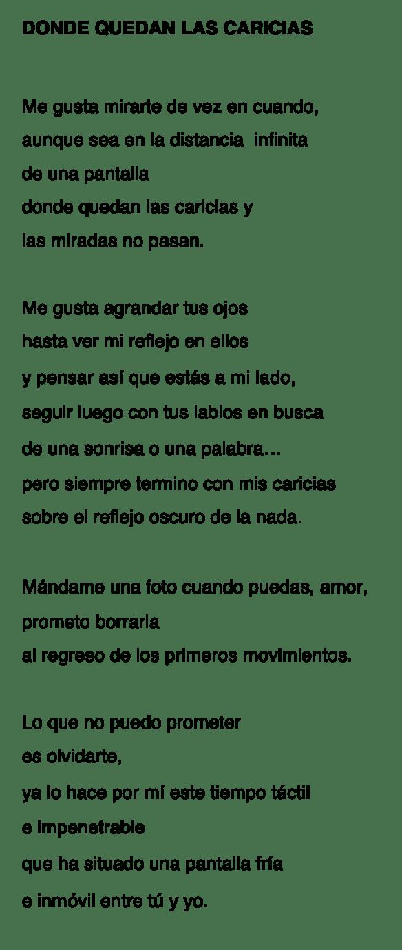 DONDE QUEDAN LAS CARICIAS-MLA-P