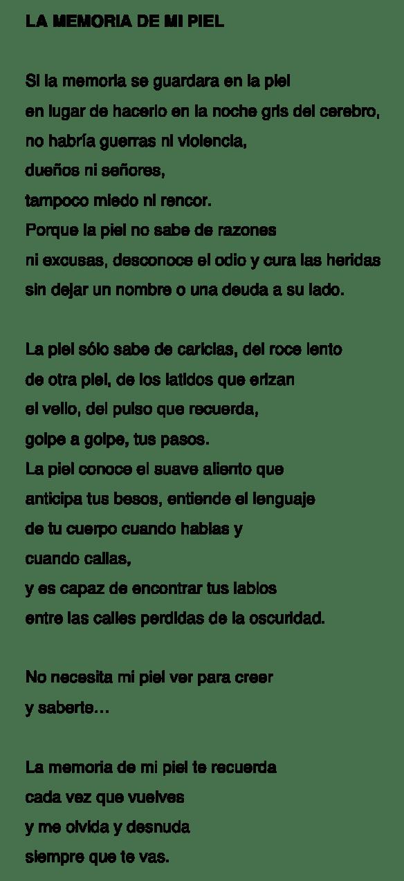 LA MEMORIA DE MI PIEL-MLA 25-7-16